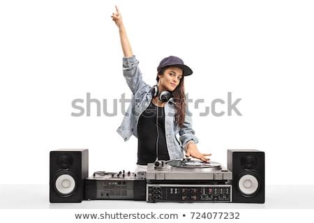 dj and record decks with speakers stock photo © elaine