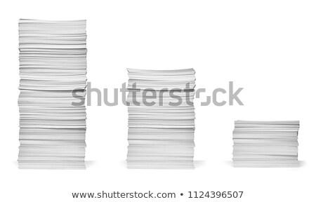 紙 スタック クローズアップ 白 オフィス 背景 ストックフォト © FOKA