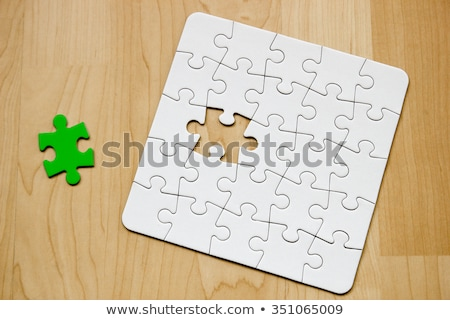 Competence - Jigsaw Puzzle with Missing Pieces. Stock photo © tashatuvango