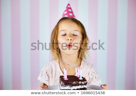 birthday cake with candles for little girl stock photo © dash