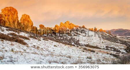 Devil's Backbone rock formation in winter scenery, Colorado Stock photo © PixelsAway