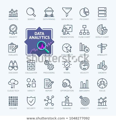 business · verslag · dun · lijn · icon · web - stockfoto © RAStudio