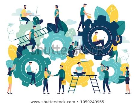Business System on the Cogwheels. Stock photo © tashatuvango