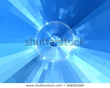 Abstract concentric blue pattern Stock photo © ptichka