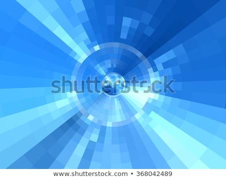 Abstract concentrisch Blauw patroon bloem water Stockfoto © ptichka