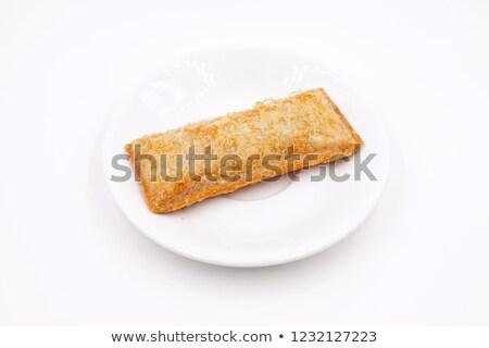 яблочный пирог быстрого питания домой торт хлеб пластина Сток-фото © 1986design
