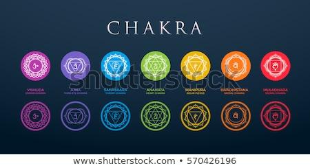 Hét szimbólum illusztráció pihen energia terápia Stock fotó © adrenalina