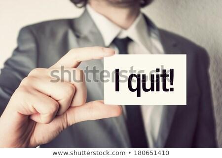 Quit job word Stock photo © fuzzbones0
