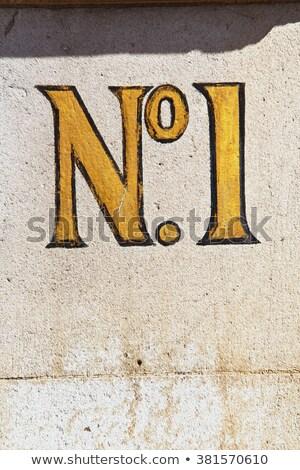 maison · nombre · 16 · signe · noir · mur - photo stock © caimacanul