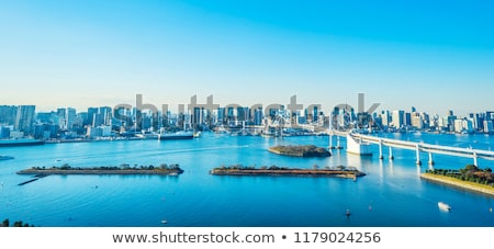 High-rise buildings on blue sky, close up view Stock photo © cherezoff