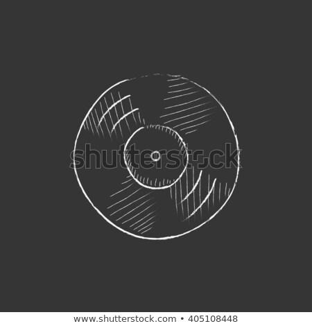 gramofon · rajz · ikon · háló · mobil · infografika - stock fotó © rastudio