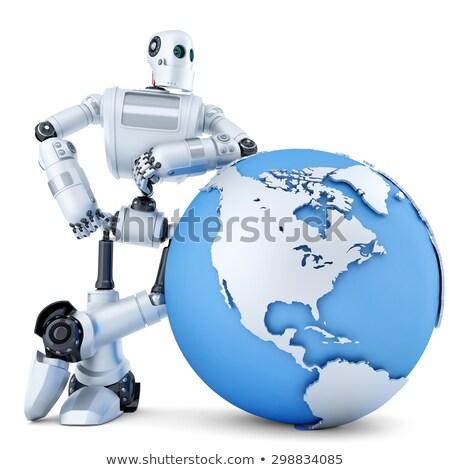 robô · mão · globo · digital · esportes · mundo - foto stock © kirill_m