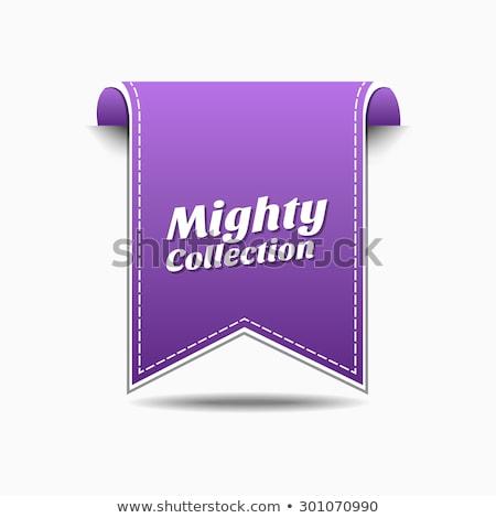 могущественный коллекция фиолетовый вектора икона дизайна Сток-фото © rizwanali3d