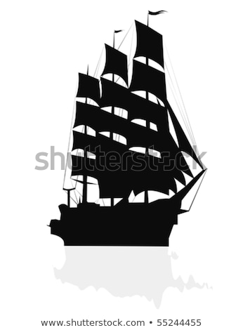 silhouette of a sailing ship in the atlantic ocean stock photo © amok