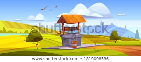 Old wooden village well Stock photo © master1305