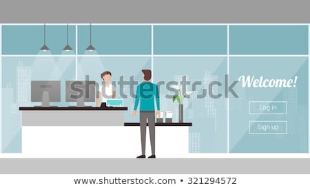 Welcoming business man or host Stock photo © ozgur