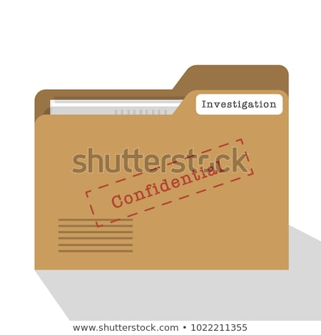 A brown file folder labeled with Data Security Stock photo © Zerbor