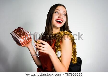 Mikulás kalap piros bugyik konfetti pár Stock fotó © nito