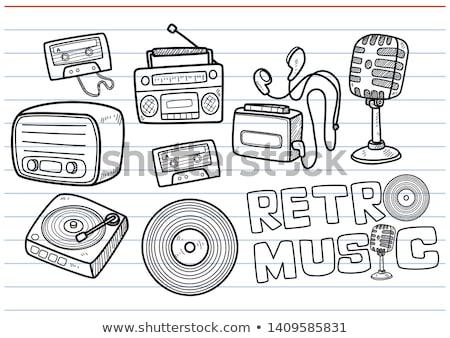 music player doodle Stock photo © netkov1