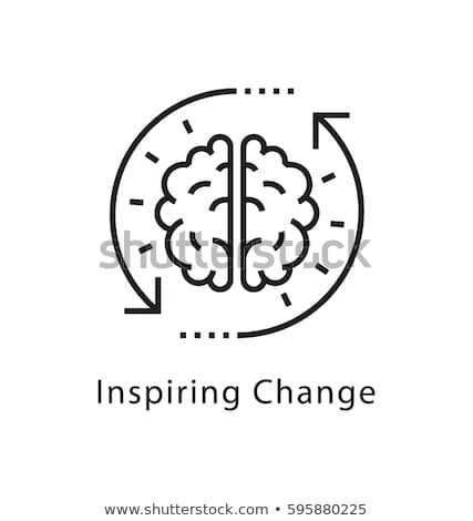 мозг линия икона веб мобильных Инфографика Сток-фото © RAStudio