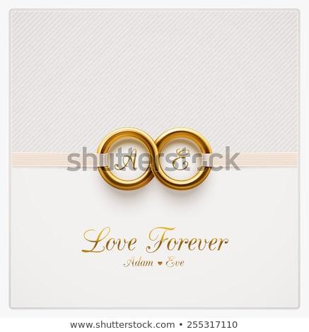 Invitation de mariage carte eps 10 battant ballon à air chaud Photo stock © beholdereye
