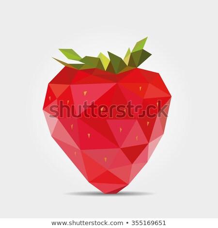 клубника · геометрическим · рисунком · сердцах · продовольствие · аннотация · природы - Сток-фото © lenm