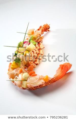 グルメ 焼き ロブスター 野菜 レストラン ストックフォト © zhekos
