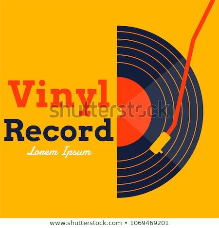 vinil · registro · cópia · espaço · dançar · laranja · discoteca - foto stock © shawnhempel