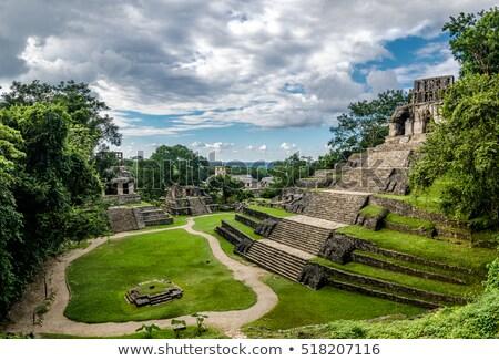 известный · археологический · руин · стены · синий · рок - Сток-фото © cienpies