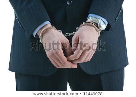 üzletember visel öltöny bilincs izolált fehér Stock fotó © cherezoff
