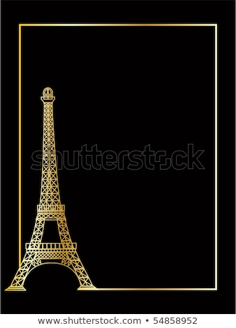 the vector eiffel tower eps 8 stock photo © sdmix