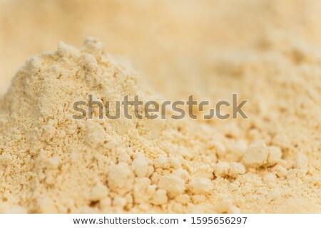 Friss tojás tojássárgája halom liszt Stock fotó © Digifoodstock