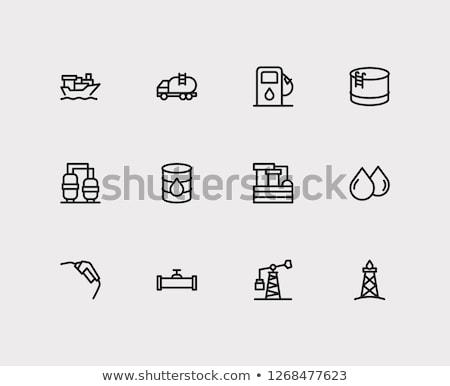 Óleo · tanque · armazenamento · ícone · cor · projeto - foto stock © angelp