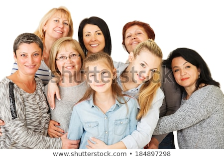 3/4 View of happy young women Stock photo © stockfrank