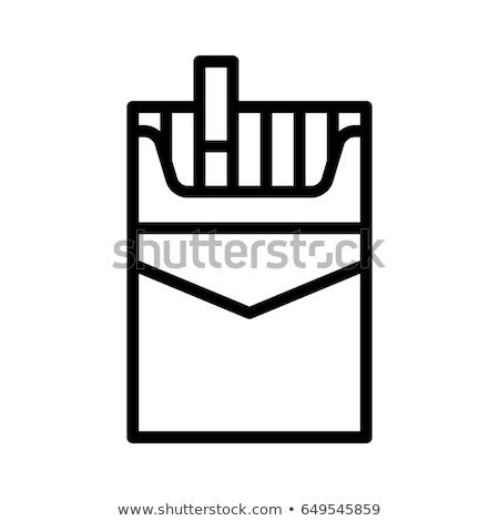 Ikona niezdrowy ilustracja ognia tle dymu Zdjęcia stock © bluering