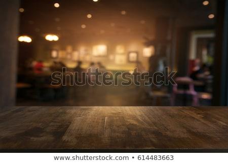 Mesa de café xícara de café pires café moinho feijões Foto stock © pakete