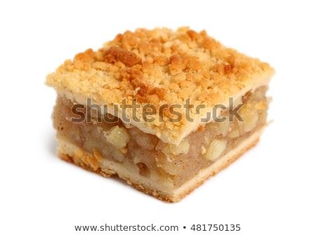 Maçã bolinhos açúcar de confeiteiro comida café da manhã branco Foto stock © Digifoodstock