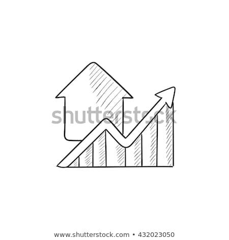 Crescimento imóveis mercado esboço ícone vetor Foto stock © RAStudio