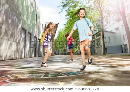 Crianças jogar escolas criança paisagem estudante Foto stock © bluering