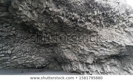Struktury bazalt jaskini Islandia południe plaży Zdjęcia stock © kb-photodesign