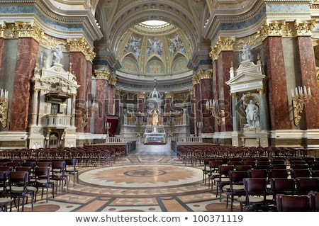 dome basilica arch saint stephens cathedral budapest hungary stock photo © billperry