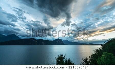 Dynamic sky with clouds Stock photo © zurijeta