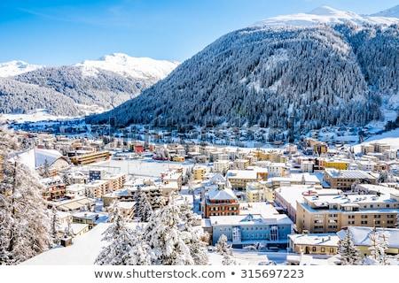 Suíça · casa · edifício · cidade · floresta · montanha - foto stock © zurijeta
