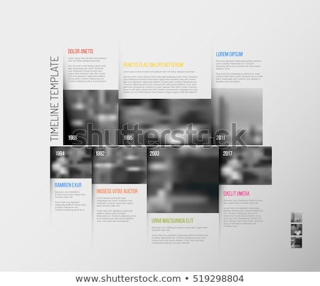 Infographic Timeline Template with big photos Stock photo © orson