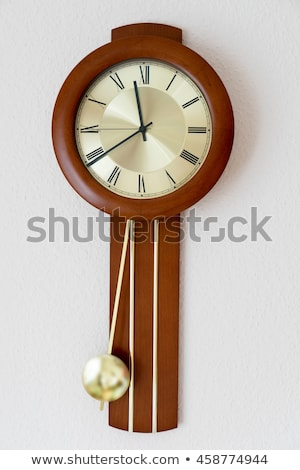 Uhr Pendel Stil Gold Messing Stock foto © blackmoon979