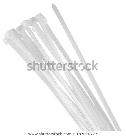 Close up of white cable ties stock photo © kb-photodesign