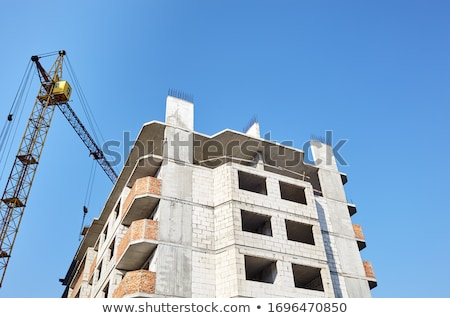 hoisting concrete block stock photo © 5xinc