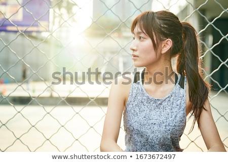 Portrait of a Asian girl with long hair Stock photo © blackmoon979