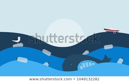 Environmental theme with world and pollution Stock photo © bluering