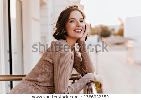 lady on the balcony Stock photo © ssuaphoto